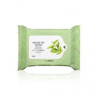 The Saem Healing Tea Garden Green Tea Cleansing Tissue-20 - Салфетки очищающие