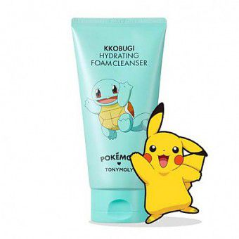 TonyMoly Pokemon Foam Cleanser Kkobugi Hydrating - Увлажняющая пенка для умывания