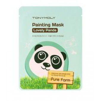 TonyMoly Pure Farm Painting Mask – Lovely Panda - Маска тканевая