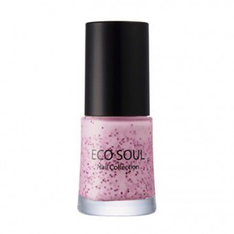 The Saem Eco Soul Nail Collection Glitter 09 Cookie & Strawberry - Лак для ногтей
