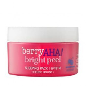 Etude House Berry Aha Bright Peel Sleeping Pack - Маска отшелушивающая