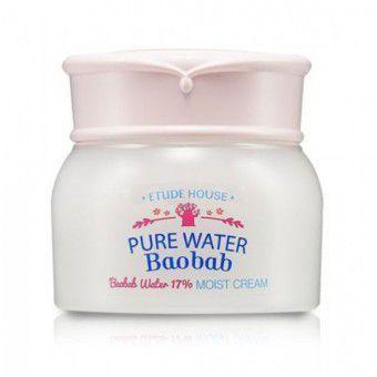 Etude House Pure Water Baobab Moist Cream - Увлажняющий крем для лица