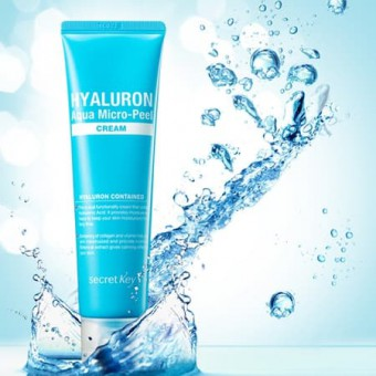 Secret Key Hyaluron Aqua Micro-Peel Cream - Крем гиалуроновый