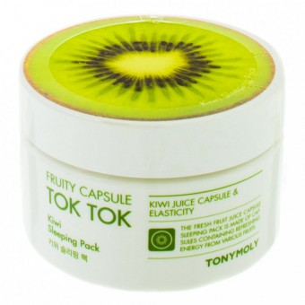 TonyMoly Fruity Capsule Tok Tok Sleeping Pack Kiwi - Ночная маска для лица