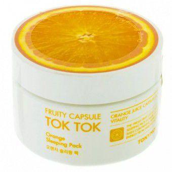 TonyMoly Fruity Capsule Tok Tok Sleeping Pack Orange - Ночная маска для лица