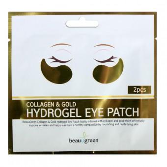BeauuGreen Collagen & Gold Hydrogel Eye Patch (single) - Гидрогелевые патчи с коллагеном и золотом