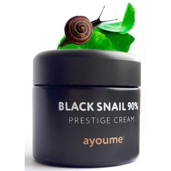 Ayoume Black Snail Prestige Cream - Крем для лица с муцином черной улитки 90%