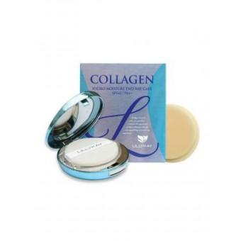 Enough Collagen Hydro Moisture Two Way Cake SPF 25 PA+++ (№13) - Пудра для лица увлажняющая с коллагеном (№13)