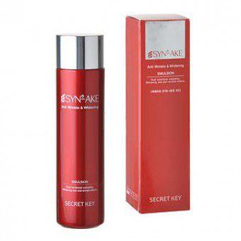 Secret Key Syn-ake Anti-Wrinkle & Whitening Emulsion - Антивозрастная эмульсия для лица с пептидом змеиного яда