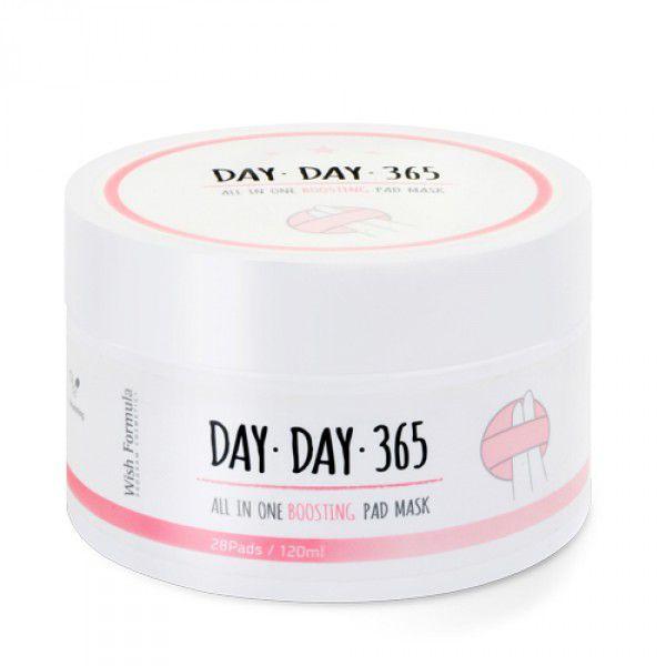 Day Day 365 All in One Boosting Pad Mask - Обновляющие, выравнивающие тон кожи диски для лица