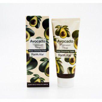 Farm Stay Avocado Premium Pore Deep Cleansing Foam - Пенка для умывания c экстрактом авокадо