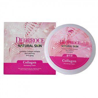 Deoproce Natural Skin Collagen Nourishing Cream - Крем для лица и тела с морским коллагеном