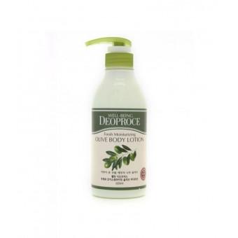 Deoproce Well-Being Fresh Moisturizing Olive Body Lotion - Лосьон для тела с экстрактом оливы