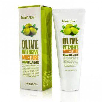 Farm Stay Olive Intensive Moisture Foam Cleanser - Пенка очищающая с экстрактом оливы увлажняющая