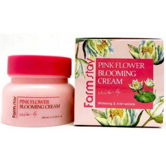 Farm Stay Pink Flower Blooming Cream Water Lily - Крем для лица с экстрактом водяной лилии