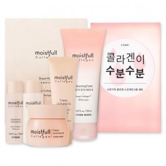 Etude House Moistfull Collagen Skin Care 3 Set - Набор увлажняющих средств с коллагеном