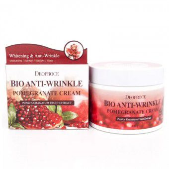 Deoproce Bio Anti-Wrinkle Pomegranate Cream - Биокрем против морщин с экстрактом граната