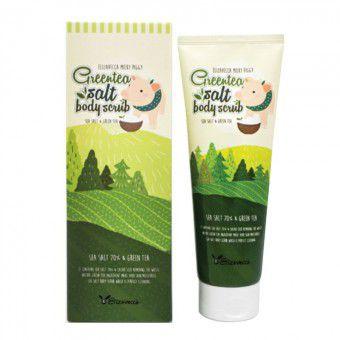Elizavecca MIlky Piggy Green Tea Salt Body Scrub - Очищающий скраб для тела с морской солью и экстрактом зелёного чая