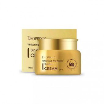 Deoproce Whitening And Anti-Wrinkle Snail Cream  - Крем для лица с экстрактом улитки
