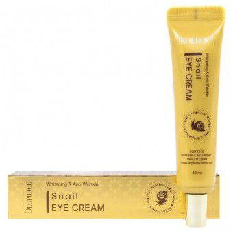 Deoproce Whitening And Anti-Wrinkle Snail Eye Cream - Крем для век с экстрактом улитки