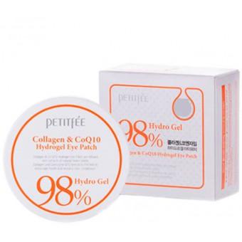 Petitfee Collagen & Q10 Hydrogel Eye Patch - Гидрогелевые патчи для век с морским коллагеном и коэнзимом Q10