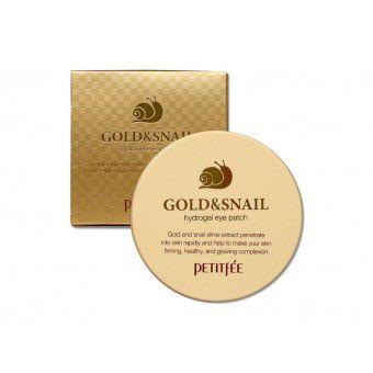 Petitfee Gold & Snail Hydrogel Eye Patch - Гидрогелевые патчи для век с золотыми частицами и фильтратом муцина улитки