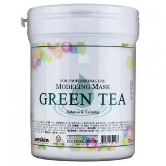 Anskin Green Tea Modeling Mask / container - Альгинатная маска антиоксидантная