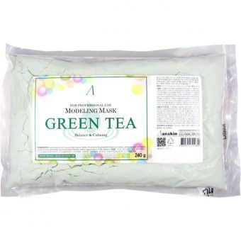 Anskin Green Tea Modeling Mask / Refill - Альгинатная маска антиоксидантная