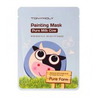 TonyMoly Pure Farm Painting Mask – Pure Milk Cow - Маска тканевая