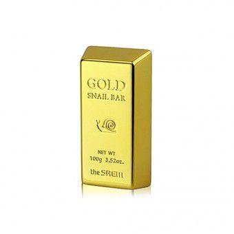 The Saem Gold Snail Bar - Мыло  с экстрактом золота, муцина улитки, оливы