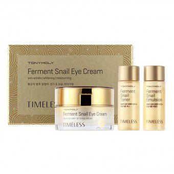 TonyMoly Timeless Ferment Snail Eye Cream - Крем для глаз с улиточным экстрактом (набор)