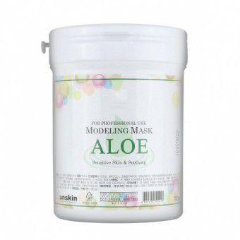 Anskin Aloe Modeling Mask / container - Альгинатная маска успокаивающая