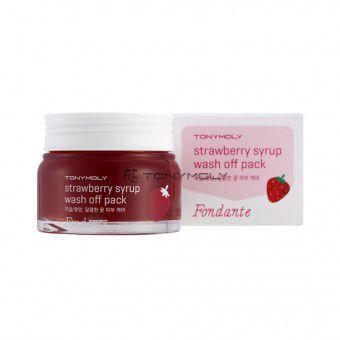 TonyMoly Fondante strawberry syrup wash off pack - Клубничная маска для лица
