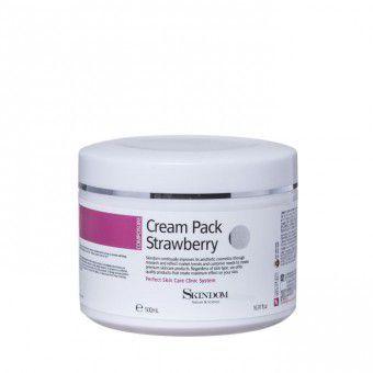 Skindom Cream Pack Strawberry - Крем-маска с экстрактом клубники для лица, шеи и зоны декольте