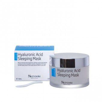 Skindom Sleeping Mask Hyaluronic acid - Ультраувлажняющий крем-гель с гиалуроновой кислотой