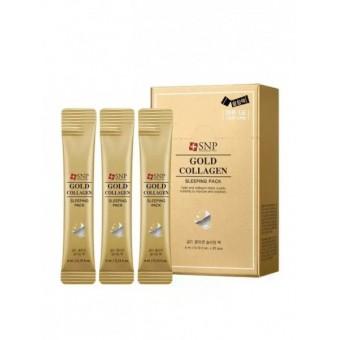 SNP Gold Collagen Sleeping Pack - Ночная увлажняющая маска с золотом и коллагеном
