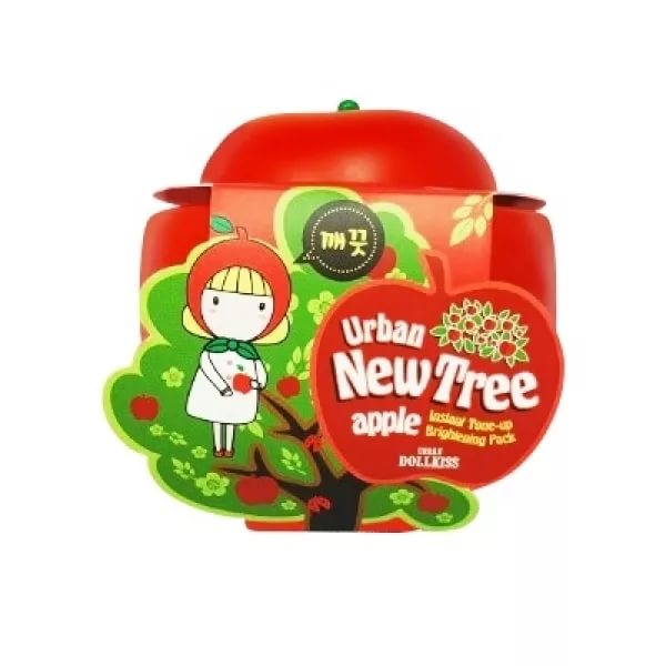 Urban dollkiss new tree apple instant tone-up brightening pack - маска для лица осветл.