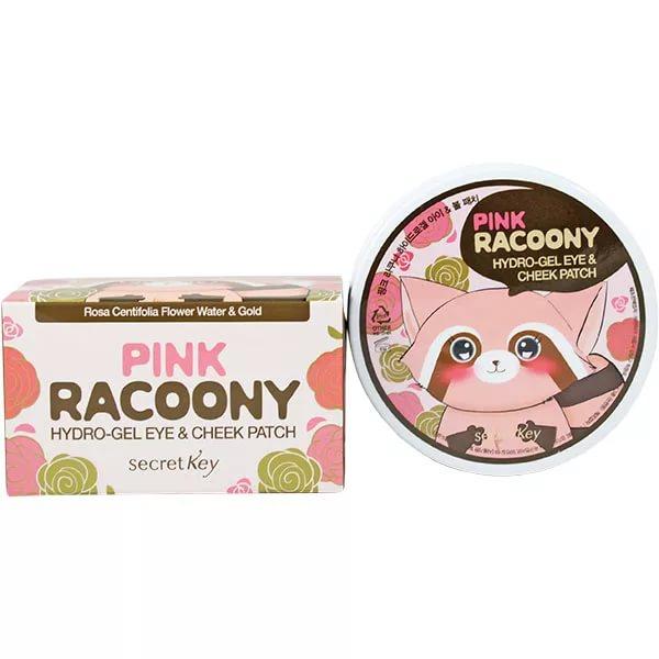 Купить Pink Racoony Hydro-Gel Eye & Cheek Patch - Патчи для глаз и скул гидрогелевые, Secret Key