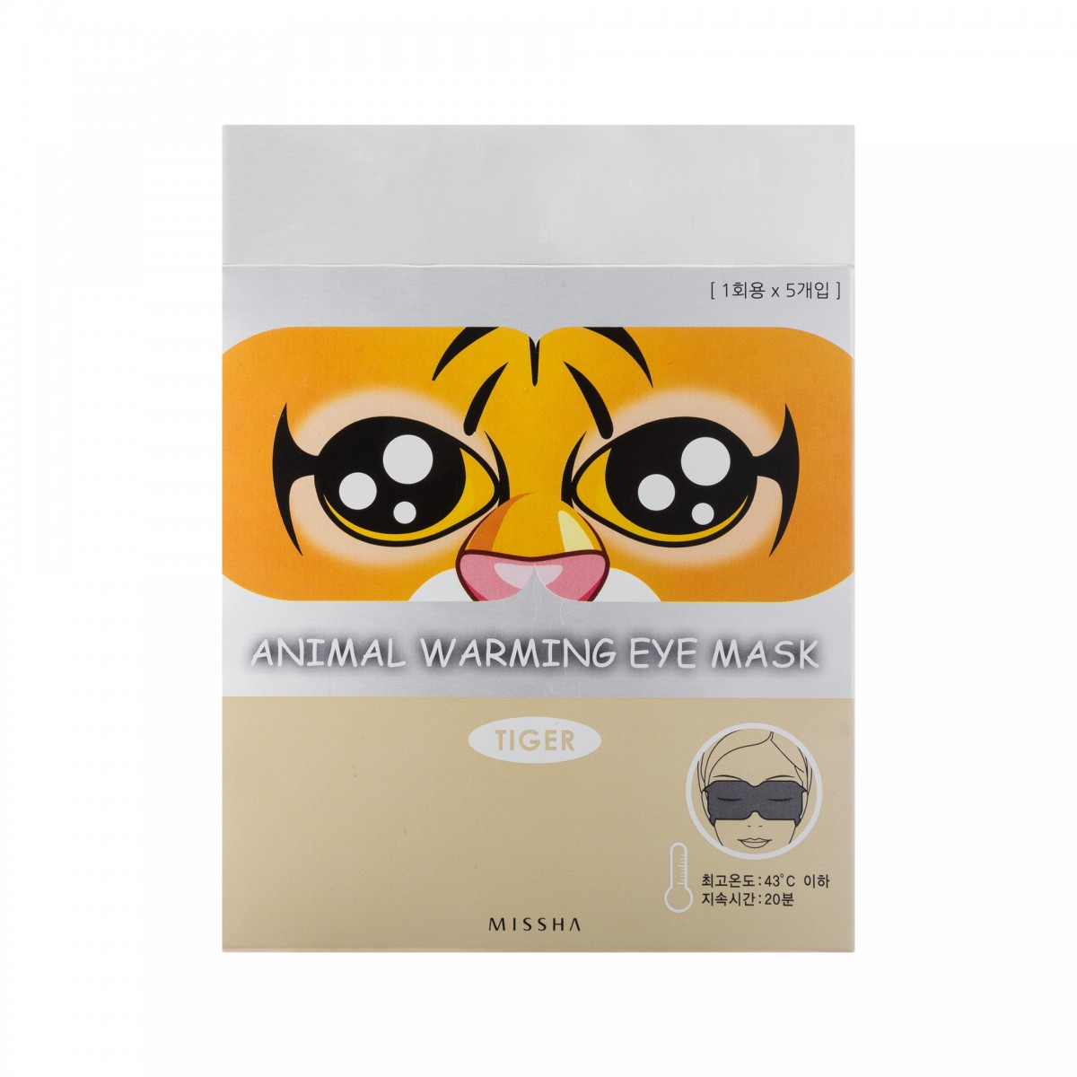 Animal Warming Eye Mask_Tiger (Rose Fragrance) - Маска для г