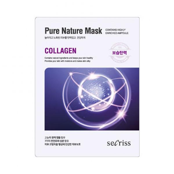 Secriss Pure Nature Mask Pack- Collagen -  Маска для лица тканевая с коллагеном