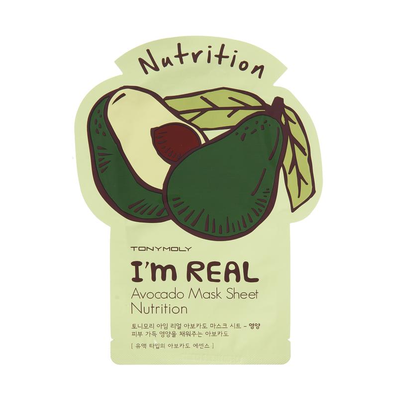 Купить I'm Real Avocado Mask Sheet - Маска авокадо смягчающая, TonyMoly
