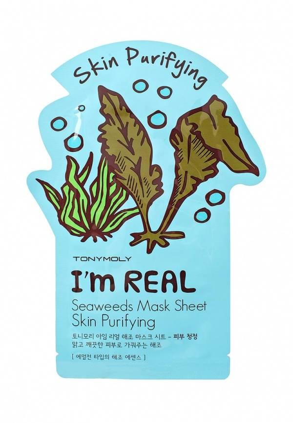 Купить I'm Real Seaweeds Mask Sheet - Маска с экстрактом морских водорослей, TonyMoly