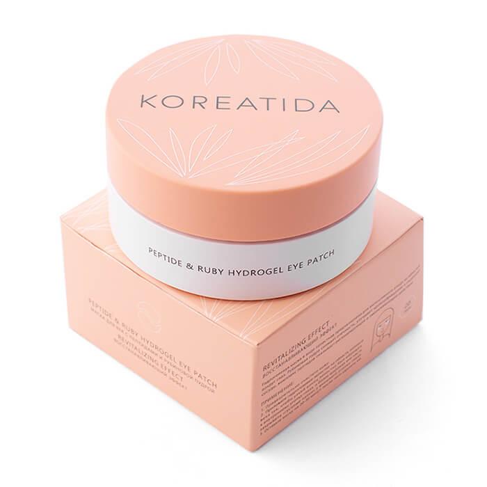 Купить Peptide & Ruby Hydrogel Eye Patch - Гидрогелевые патчи для глаз с пептидами и рубиновой пудрой, Koreatida