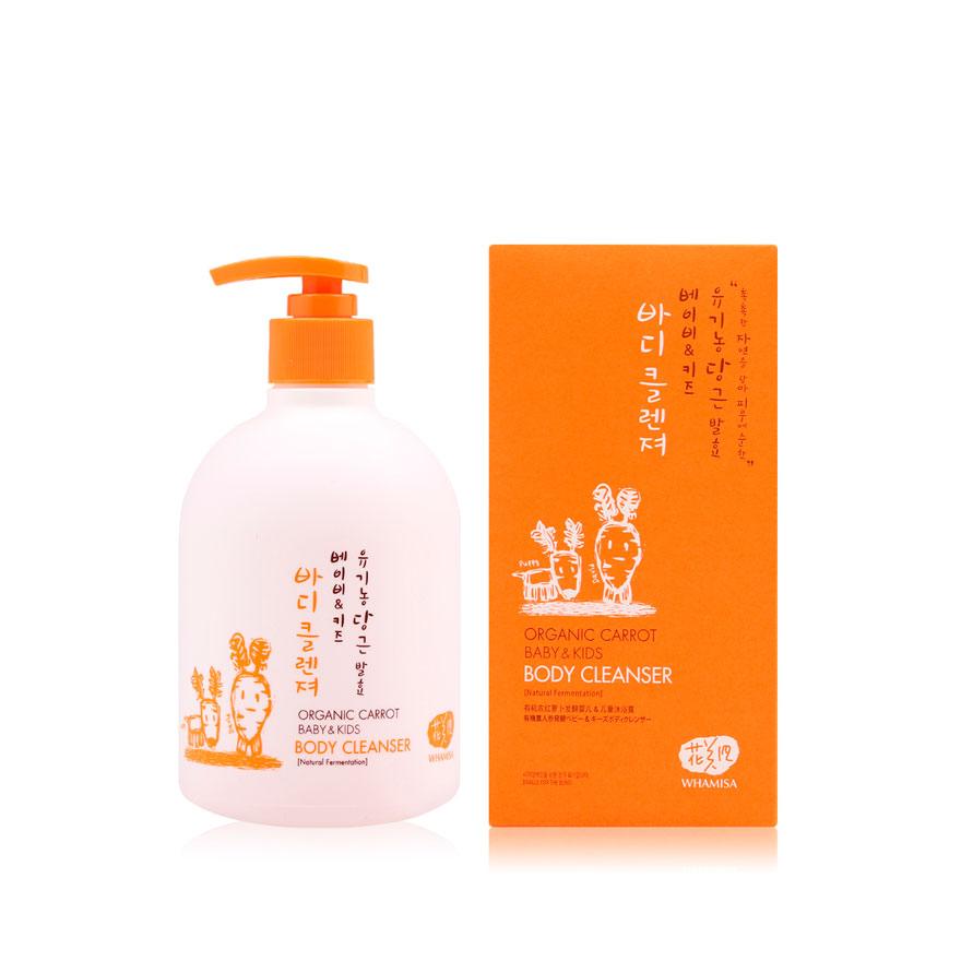 Organic Carrot Baby&Kids Body Cleanser (Natural Fermentation) - Детский гель для купания на основе кокосового масла и ферментов моркови