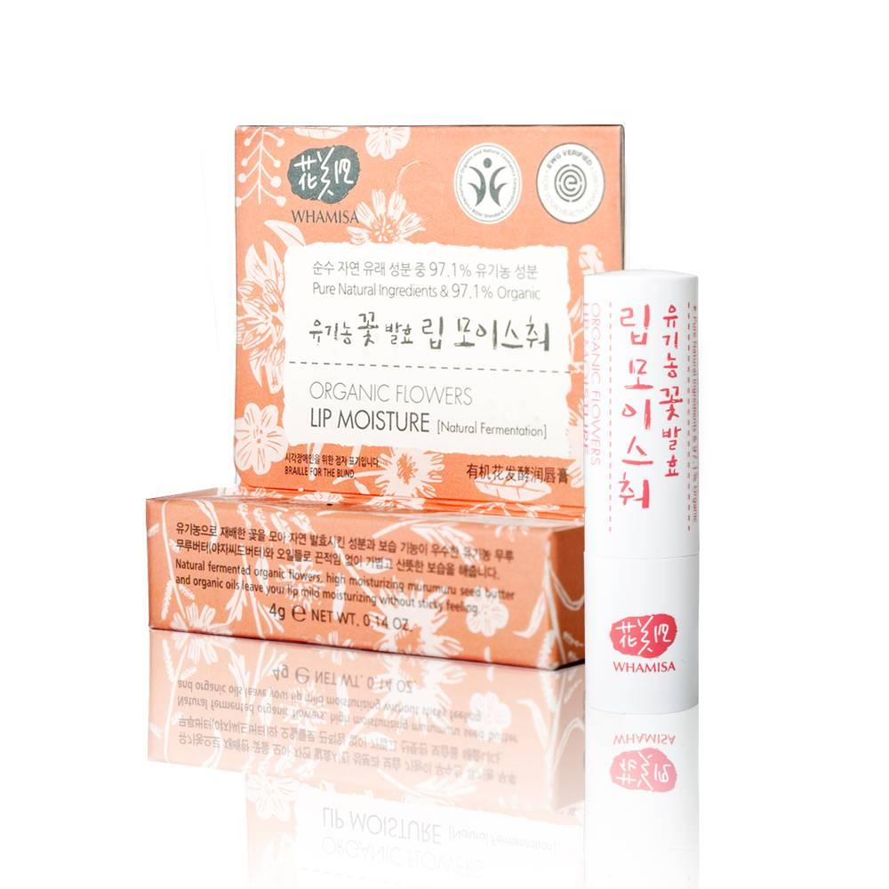 Organic Flowers Lip Moisture (Natural Fermentation) - Бальзам для губ на основе цветочных ферментов