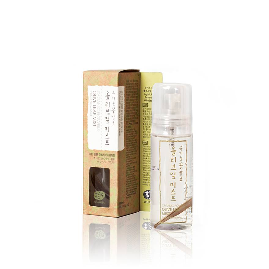 Organic Flowers Olive Leaf Mist (Natural Fermentation) - Спрей для лица на основе цветочных ферментов с экстрактом оливковых листьев