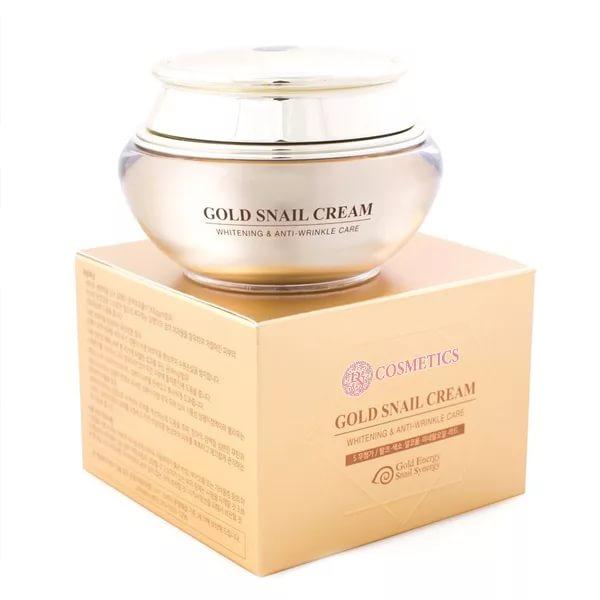 Gold Snail Cream - Увлажняющий крем для лица с золотом и слизью улитки