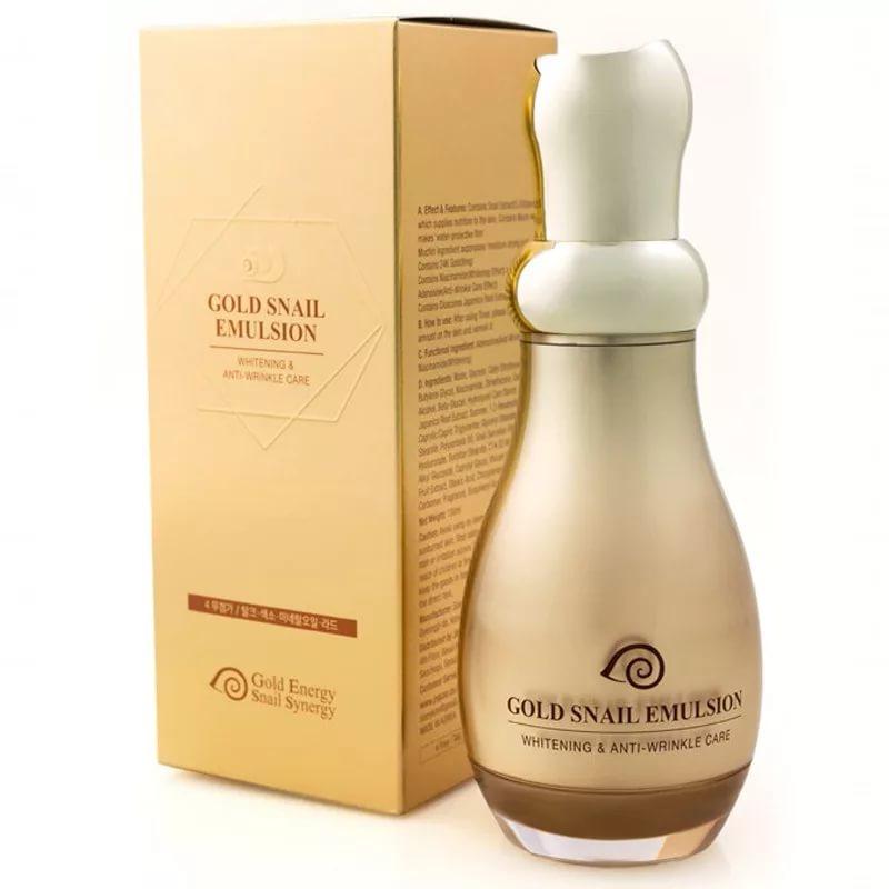 Gold Snail Emulsion - Эмульсия для лица с золотом и слизью улитки