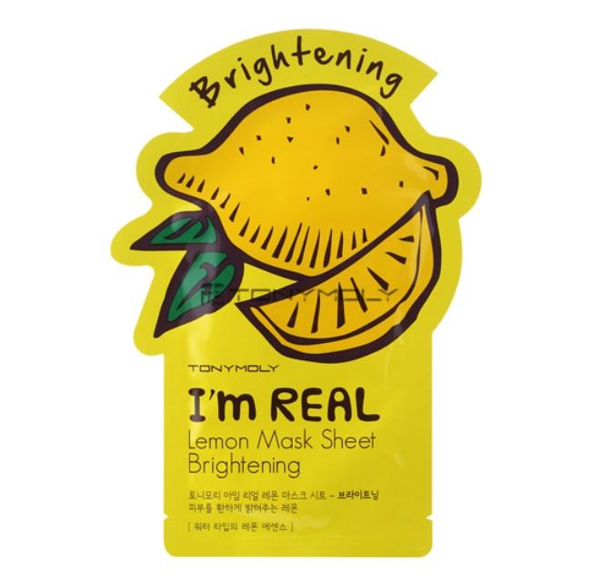 Купить I'm Real Lemon Mask Sheet - Маска лимонная отбеливающая, TonyMoly