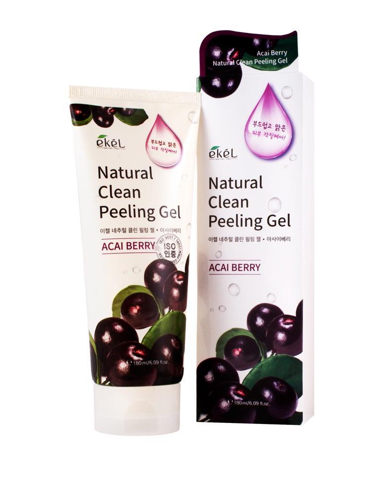 Acai Berry Natural Clean Peeling Gel - Пилинг-скатка с экстрактом ягод асаи, Ekel  - Купить